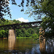 Western Maryland Railroad Crossing The Potomac River Poster