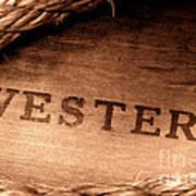 Western Stamp Branding Poster