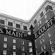 Westin Poinsett Behind S.main And E.court St Poster