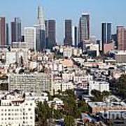 Westlake And Los Angeles Skyline Poster