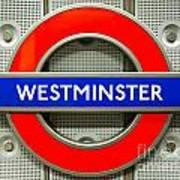 Westminster Underground Logo Poster
