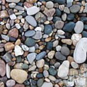 Wet Pebbles Poster by Margaret McDermott