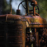 Wet Red Tractor Poster