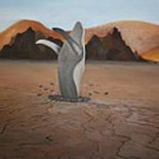 Whale In Desert Poster