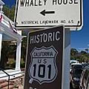 Whaley House Us Hwy 101 Historic Route Poster