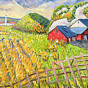 Wheat Harvest Kamouraska Quebec Poster by Patricia Eyre