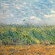 Wheatfield with Lark Poster