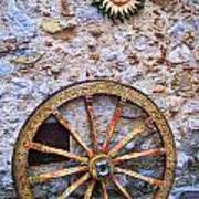 Wheel And Sun In Taromina Sicily Poster