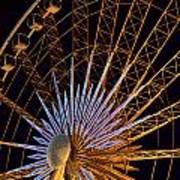 Wheel At Night Niagara Falls Poster
