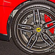 Wheel Of A Ferrari Poster