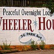 Wheeler House Poster