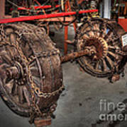 Wheels Of Old Steam Wagon Poster