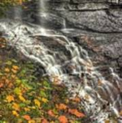 When Light And Water Falls-5a Blackwater Falls State Park Wv Autumn Mid-morning Poster