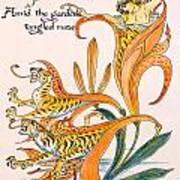 When Lilies Turned To Tiger Blaze Poster by Walter Crane