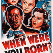 When Were You Born, Us Poster Art Poster