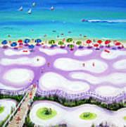 Whimsical Beach Umbrellas - Seashore Poster