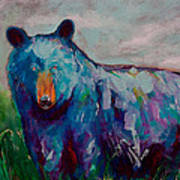 Whimsy Bear Painting Black Bear Brown Bear Wall Art Poster