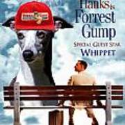 Whippet Art - Forrest Gump Movie Poster Poster