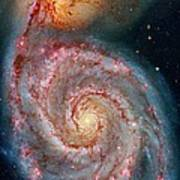 Whirlpool Galaxy In Dust Poster
