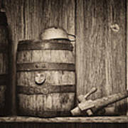 Whiskey Barrel Still Life Poster