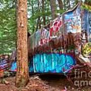 Whistler Train Wreck Box Car Graffiti Poster