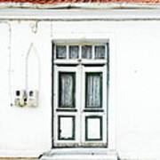 White And Green Door Poster