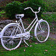 White Bicycle Poster