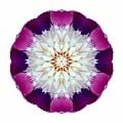 Bowl Of Beauty Peony II Flower Mandala White Poster