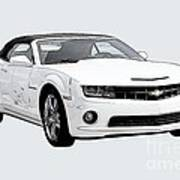 White Camaro Poster