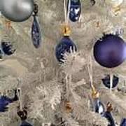 White Christmas Tree Poster