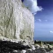White Cliffs At Birling Gap Poster