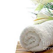 White Cotton Towel Poster