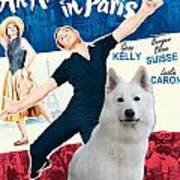 White German Shepherd Art Canvas Print - An American In Paris Movie Poster Poster