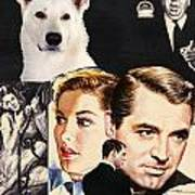 White German Shepherd Art Canvas Print - Suspicion Movie Poster Poster