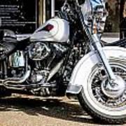 White Harley Poster