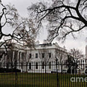White House On A Cloudy Winter Day Poster