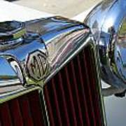 White Mg With Red Grille Poster