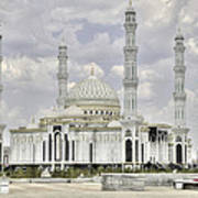 White Mosque Poster