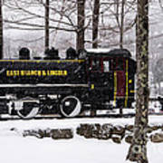 White Mountains Railroad And Train Poster