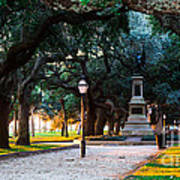 White Point Garden Walkway Charleston Sc Poster