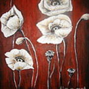 White Poppies Poster by Elena  Constantinescu