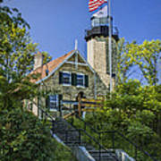 White River Lighthouse In Whitehall Michigan No.057 Poster
