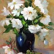 White Rose Elegance Poster