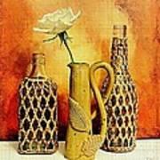 White Rose Still Life Poster by Marsha Heiken
