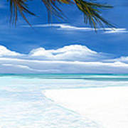 White Sand And Turquoise Sea Poster
