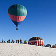 White Sands New Mexico Balloon Festival Poster