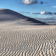 White Sands Patterns Poster