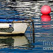 White Skiff - Lyme Regis Harbour Poster