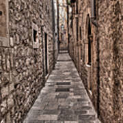 White Streets Of Dubrovnik No3 Poster