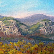 Whitehorse And Cathedral Ledges From The Red Jacket Inn Poster